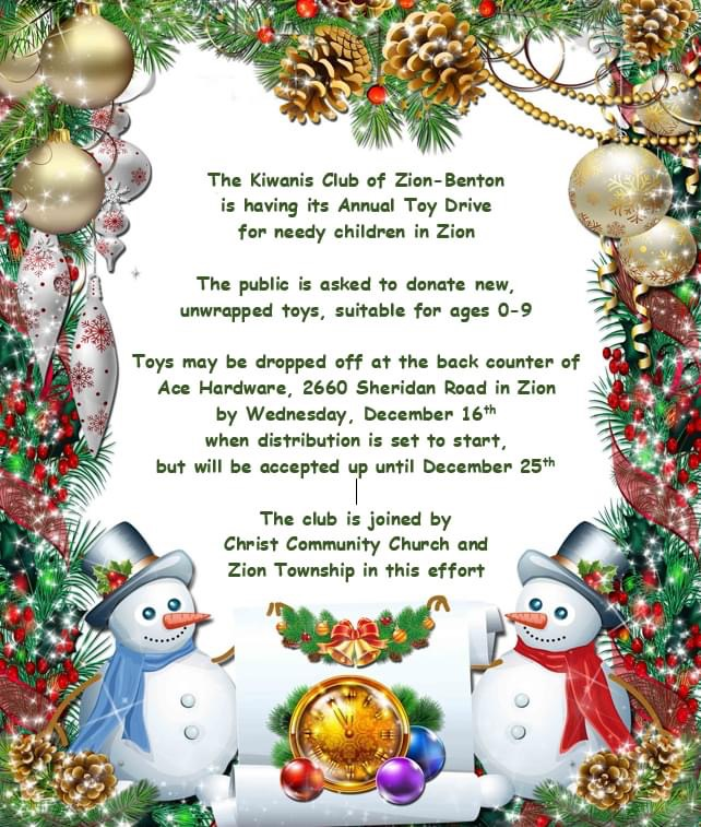 Flyer for toy drive.